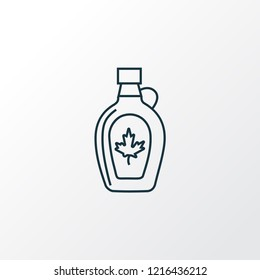 Maple syrup icon line symbol. Premium quality isolated bottle element in trendy style.
