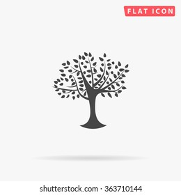 Maple tree Icon Vector.