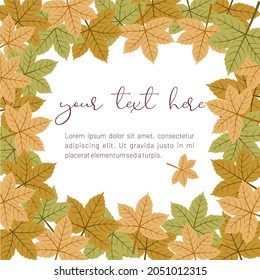 Maples frame greeting card template design