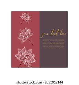 Maples greeting card template design