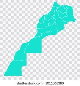 Map-morocco map. Each city and border has separately. Vector illustration eps 10.