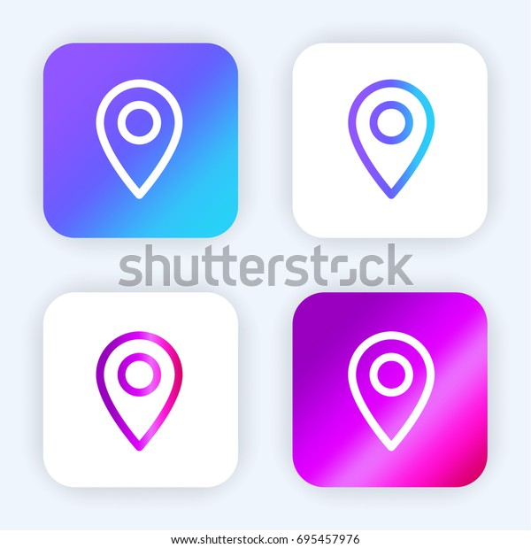Maps Flags Bright Purple Blue Gradient Stock Vector Royalty Free 695457976