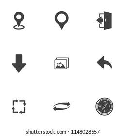 Maps, location, navigation and transportation icons set