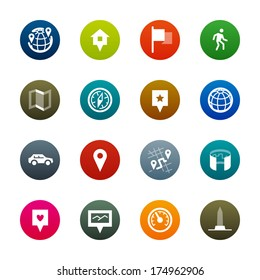 Maps and navigation icons. Professional vector icons for your website, application and presentation.