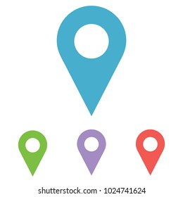 Maps pin. Location pin. Pin icon vector. Location map icon