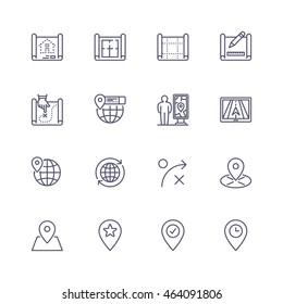 Maps & Travel icons