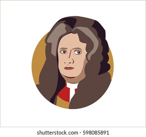 Mar 11, 2017. Isaac Newton flat icon portrait