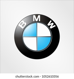 Mar 2018, Surabaya, Indonesia: Logo sign template vector BMW on white background German multinational company