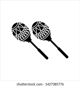 Maracas Icon, Music, Percussion Instrument Icon Vector Art Illustration