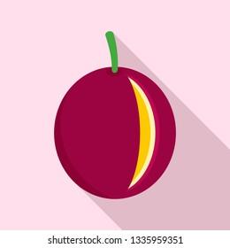 Maracuja icon. Flat illustration of maracuja vector icon for web design