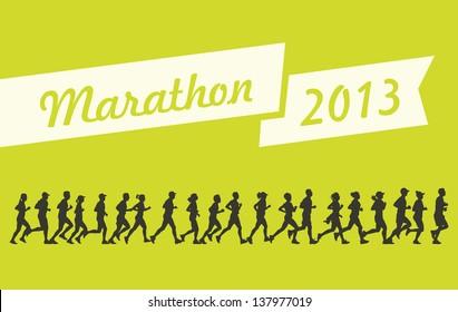 Marathon 2013 vector