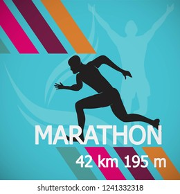 Marathon Runner event icon stock vector material