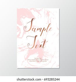 Marble background card with pink stone texture.