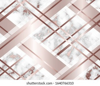 Marble background rose gold. Seamless pattern. Elegant marble golden texture. Beautiful glitter marbling. Design backdrop for wallpaper, card, cover, floor, interior, flooring surface, prints. Vector