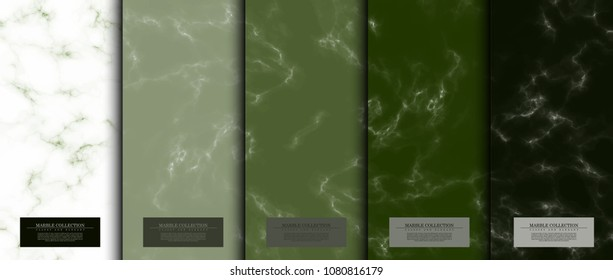 Marble collection abstract pattern texture matcha green background card template vector design