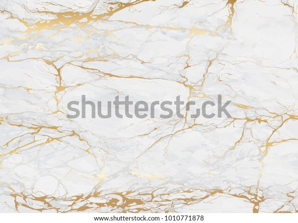 Marble Golden Texture Background Vector Illustration Stock