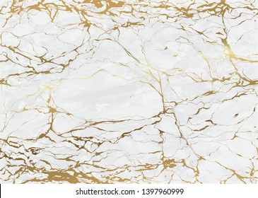 Marble seamless pattern with golden texture background. High resolution abstract marbling design - Vector