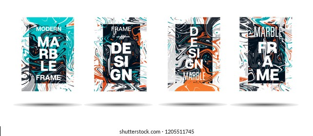 Marble Texture Dynamic Frame Vector Design. Liquid Paint Suminagashi Ad, Music, Party Poster, Congratulations Card, Cover Background. Gradient Overlay Border, Vibrant Vector Marble Texture Design