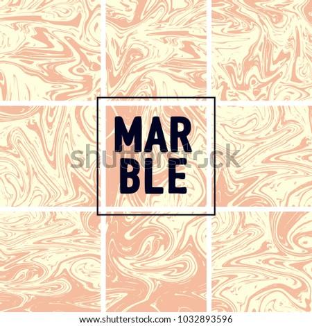 Stock vektory na téma Marble Texture Set Pink Cream White (bez ... cbd869758e
