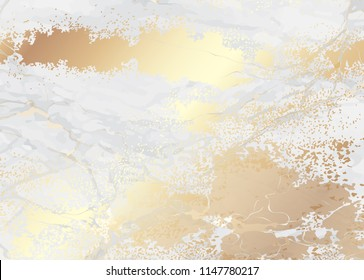 Marble vector design with gold texture design for luxury packaging wedding card and cover design template.