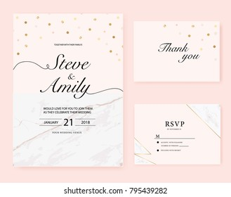 Marble wedding card