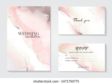 Marble wedding cover background vector set. Marble tender with texture. Modern design background for wedding, invitation, web, banner, card, pattern, wallpaper vector illustration. Rose grey color