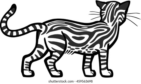Marbled Tabby Cat