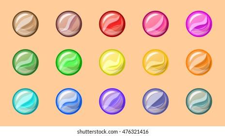 Marbles balls - vector illustration