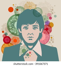 MARCH 13 2016 Vector Illustration Of Paul McCartney Eps10