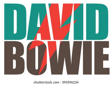MARCH 19, 2016: David Bowie pop art illustrative editorial. EPS 10.