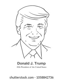 MARCH 28, 2018: Illustrative editorial portrait of Donald Trump, 45th President of the United States in black and white