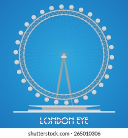 March 30, 2015 London Eye - Detailed Vector Illustration