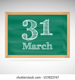 March 31, day calendar, school board, date