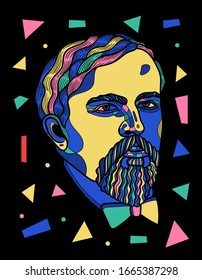 March. 6, 2020: Debussy. Mosaic RGB style.