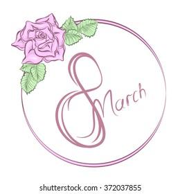 March 8. International Women's Day, vector illustration
