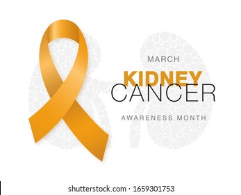 March Kidney Cancer Awareness Month Orange Stock Vector Royalty Free 1659301753