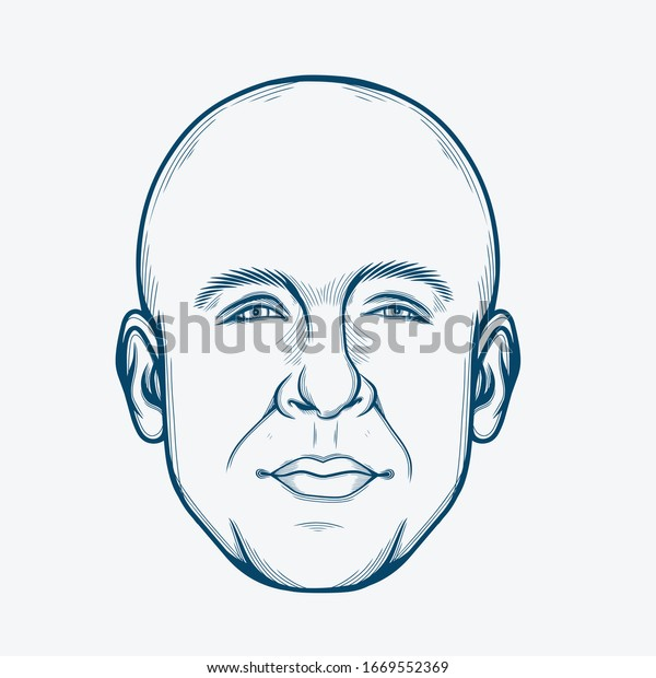 March,2020 : Line Art Portrait of Vin Diesel. American Actor and Producer.