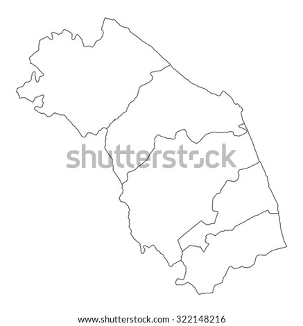 marche map italy province vector contour stock vector royalty free Map of Italy Blank Worksheet marche map italy province vector contour illustration isolated on white background