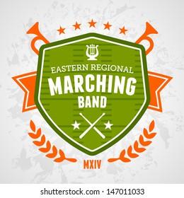 Marching band drum corp emblem logo badge design