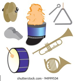 Marching Band Icons Images, Stock Photos & Vectors