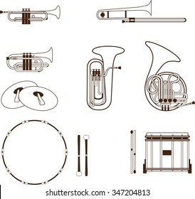 Marching Band Instruments Images, Stock Photos & Vectors