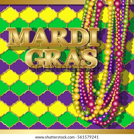 Mardi gras background vector golden text stock vector royalty free mardi gras background vector golden text fat tuesday on french language greeting cards with m4hsunfo