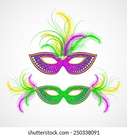 Mardi Gras carnival mask. Vector illustration.