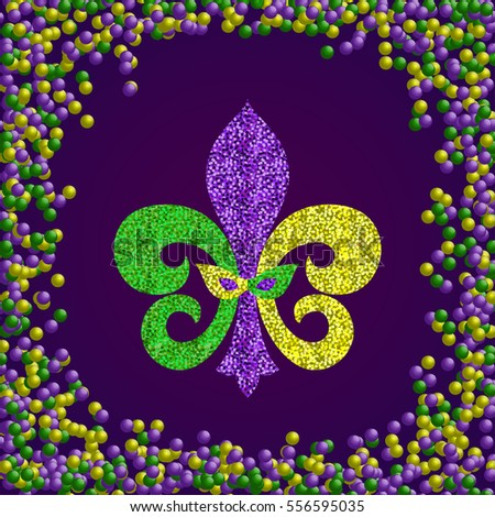 mardi gras carnival poster including fleur stock vector royalty