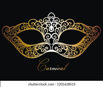 Mardi Gras carnival vector illustration with mask