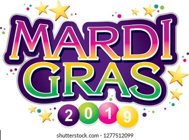 Mardi Gras Colorful Signage