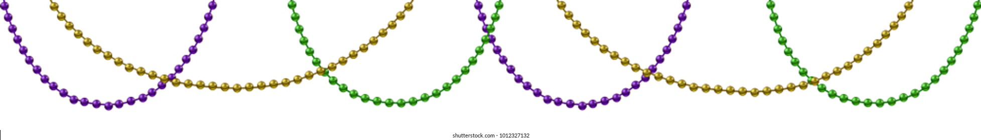 Mardi Gras decoration with isolated on white