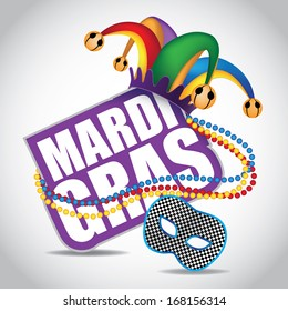 Mardi Gras design element. EPS 10 vector, grouped for easy editing. No open shapes or paths.