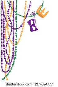 Mardi Gras design elements, Beads, Parade, Marching Band