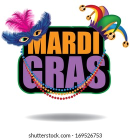 Mardi Gras icon. EPS 10 vector, grouped for easy editing. No open shapes or paths.